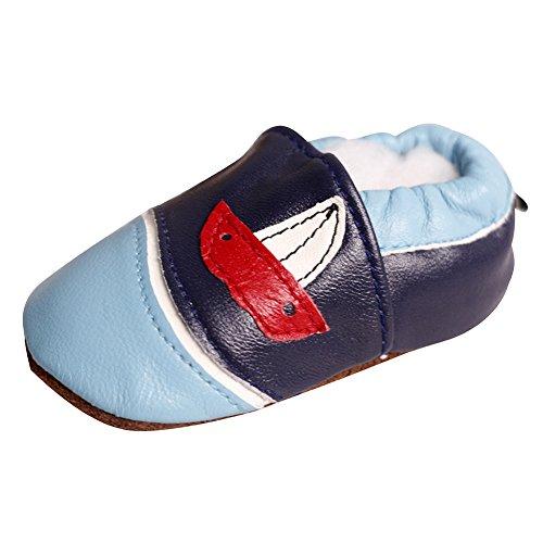 LSERVER Zapatos bebé Cuero Suave Pantuflas Infantiles