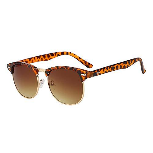 Zbertx Hochwertige Mode Männer Sonnenbrille Retro Elegante Klassische Unisex Sonnenbrille Frauen Brillen,Leopard W Brown