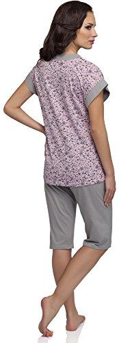 Merry Style Damen Schlafanzug K1TH3 Rosa/Grau