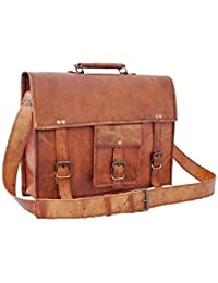 Leather Bag Brown Genuine Messenger And Laptop Bag By Pranjals House