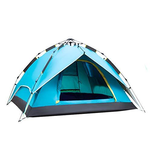 OLLY Marke Pop-up-Zelt Automatisches Instant-Familienzelt Das 3-4 Leichte Imprägniert Dome-Outdoorzelte,2 Farben