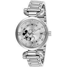 Invicta 27290 Disney Limited Edition Reloj para Mujer acero inoxidable  Cuarzo Esfera plata d8c641bf1e43