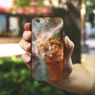 Apple iPhone 6 Housse Étui Silicone Coque Protection Étoiles Espace Motif Housse en silicone noir / blanc