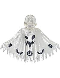 Sunny Fashion De Halloween Bruja capa Terciopelo Encapuchado Manto Disfraces Mago Cosplay 4-12 años