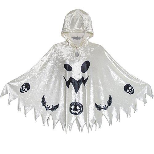 Halloween Witch Kap Samt Mit Kapuze Mantel Kostüme Zauberer Cosplay Gr. 140-146 (Kostüme Kinder Von Tabellen)