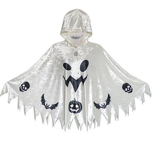 Halloween Witch Kap Samt Mit Kapuze Mantel Kostüme Zauberer Cosplay Gr. 98-104
