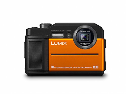 Panasonic LUMIX DC-FT7EG-D Outdoor Kamera (20,6 MP, 4K Foto, 4K Video, wasserdicht bis 31 m, USB, stoßfest bis 2m, orange)