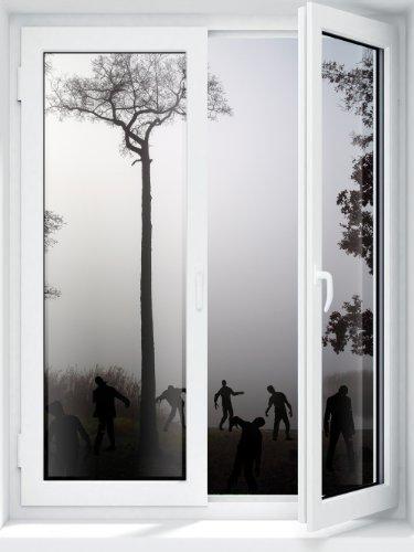 JP London schälen und Stick Abnehmbare Wand Aufkleber Aufkleber Fenster Wandbild, Zombie Apokalypse Walking Dead aus ihr Fenster, 24von 18 (Zombie-apokalypse-aufkleber)