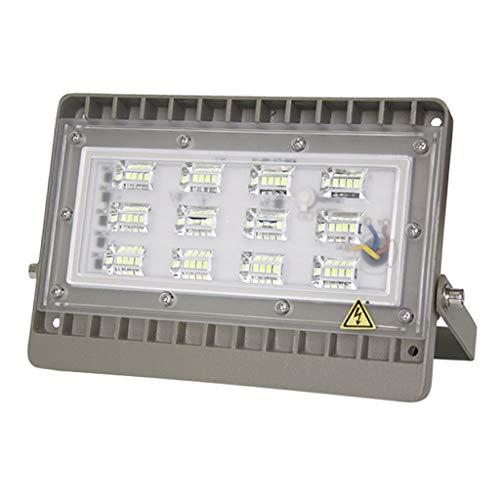 6 Bunte LED-Flutlichtstrahler,Flutlicht WKZ-Scheinwerfer-Sicherheitslampe für das Errichten des Hof-Park-Grün-Anschlagtafel IP65 wasserdicht (Farbe : White light -50W)