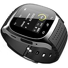 Fashion R-Watch M26Bluetooth Smart reloj de luz LED pantalla con Dial/llamada respuesta/SMS Recordando/Reproductor de música/anti-lost/Passometer/termómetro para Samsung/HT