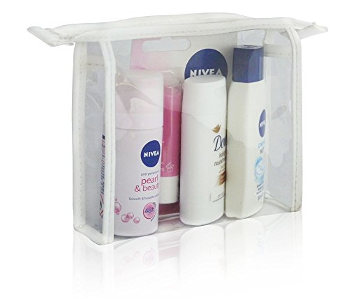 NIVEA LADIES TRAVEL PACK MINI GIFT BAG SET - DEODORANT, Lippenpflege, Duschgel & CREAM