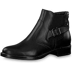 TAMARIS ABETA Botines/Low Boots Mujeres Negro - 38 - Botas de caña Baja