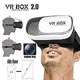 #2: VR BOX 2.0 Virtual Reality Glasses, 2016 3D VR Headsets for 4.7~6 Inch Screen Phones iphone 4S, iphone 5s, IPhone 6 / 6 S , Samsung LG Sony HTC, Nexus 6 etc