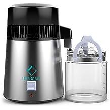 LifeBasis Water Distiller Destilación de agua de acero inoxidable 4L 750W con jarra de vidrio,