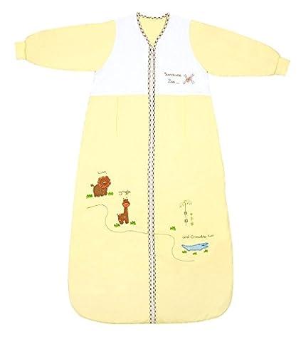 Schlummersack Baby Winter Schlafsack Langarm 3.5 Tog 110cm/12-36 Monate - Zoo (Hello Kitty Hochstuhl)