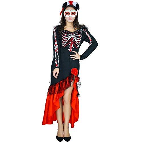 Der Kostüm Haar Toten Tag - Sea Hare Womens Tag der toten Senorita verkleidete