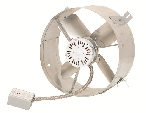 Cool Attic CX1600 Gable Mount Power Attic Ventilators with 4.5-Amp 60-Hz Motor and 14-Inch Blade by Cool Attic (Mount Gable)