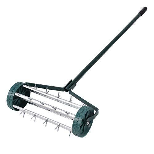Costway aeratore per prato a rullo, scarificatore per prato giardino con ruote e manico