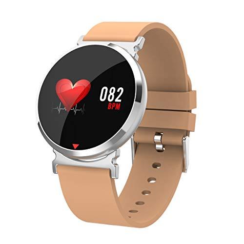 HTTXSBL Sportuhr Fitness Tracker Herzfrequenzerkennung Farbdisplay Bewegung Echtzeitüberwachung IP67 wasserdicht orange