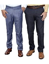Indistar Combo Offer Mens Formal Trouser (Pack Of 2) - B01JRW69B0