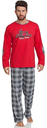 Cornette Ensemble Pyjama Homme CR-124-Tower-Bridge2 (Rouge, XXL)