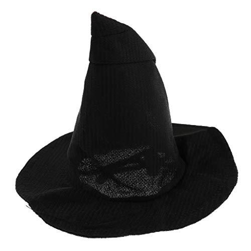 (perfk Hund Katze Hut Zauberer Hut Hexenhut Halloween Haustier Kopfbedeckung - Schwarz)