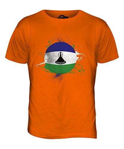 CandyMix Lesotho Fußball Herren T Shirt Orange
