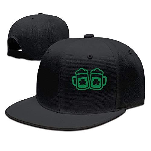 Green Beer Irish Unisex Snapback Adjustable Flat Bill Baseball Cap Satin Wool Cap