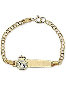 Real Madrid Schild Gold Armband aus Sterling Slave Baby 9k [6479GR] - Modell: 0530-045 - Anpassbare - AUFNAHME...