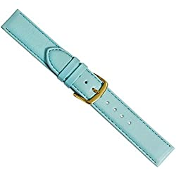 Beach Replacement Band Watch Band Leather Kalf turquoise 20449G, width:24mm