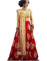 e8420d87c1 JD Creation Women's Embroidered Semi Stitched Lehenga Choli With Blouse  Piece (_FreeSize)