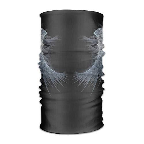Jieaiuoo Headwear Headband White Wing Art Pattern Head Scarf Wrap Sweatband Sport Headscarves For Men Women -
