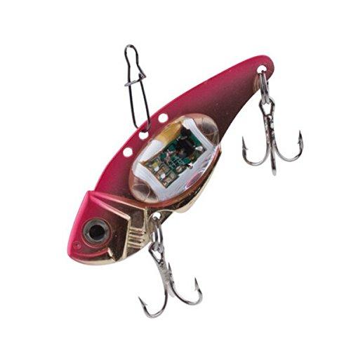 MaMaison007 Flash LED lampada esca pesca con esche artificiali luce elettronico pesca-rosa