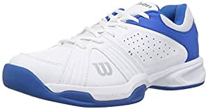 WILSON RUSH SWING SHOES WHITE/BLUE (IND/UK 7)