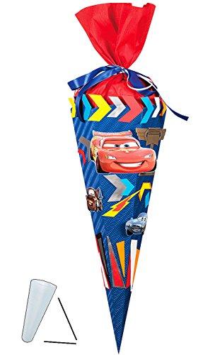 Unbekannt Bastelset 3-D Schultüte - Cars Mc Queen - 85 cm 6 - eckig - Zuckertüte zum selbst Basteln - für Jungen - Auto Fahrzeuge Finn Hock Francesco Mc Missle - Auto Hock-set