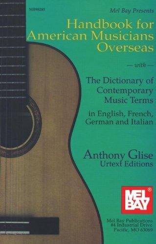 HANDBOOK FOR AMERICAN MUSICIANS OVERSEAS  POUR TOUS LES INSTRUMENTS