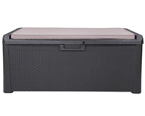 XL Toomax Kissenbox anthrazit 560 Liter Inhalt - mit Sitzfläche 380 kg Tragtkraft - absolut wasserdicht - abschließbar