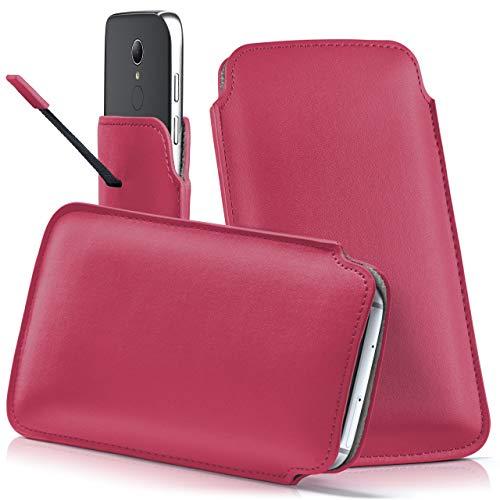 moex HP Elite x3 | Hülle Pink Sleeve Slide Cover Ultra-Slim Schutzhülle Dünn Handyhülle für HP Elite x3 Case Full Body Handytasche Kunst-Leder Tasche