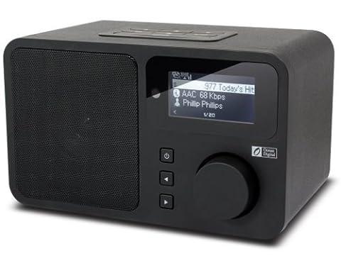 Ocean Digital Radio Internet WR232 Wi-Fi Wlan sans fil Lecteur de musique et le contrôle à distance - Noir