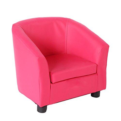 JPPSAF Einzelner Kunstledersessel aus Kunstleder, multifunktionales Kindersofa, einfacher moderner Sitz, Kinderhocker JPPSAF (Farbe : Rose Rot)