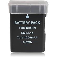 BPS EN-EL14 EN-EL14a batería para Nikon D3300 D5300 D5500 D3200 D5200 D5100 D3100 cámara D3S digital, Nikon empuñadura BG-2G, Nikon cargador de baterías MH-24