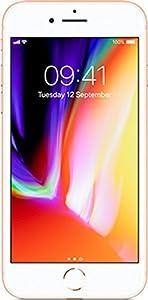 Apple iPhone 8 (4.7 inch Multi-Touch) Retina HD Display 64GB WLAN WWAN Bluetooth Camera Fingerprint-Sensor iOS11 (Gold)