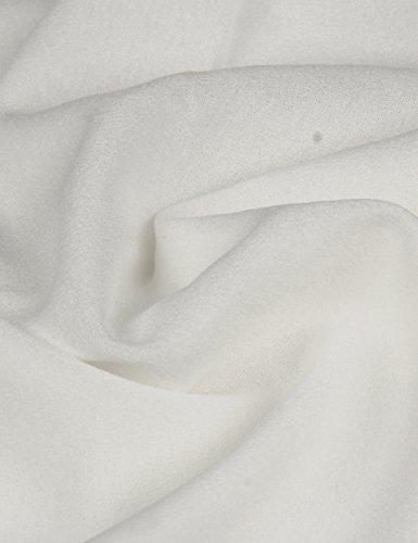 Shinkoo®Donne Manica Lunga Taglia Grossa Ricamo Chiffon Tops Caduta Camicia White