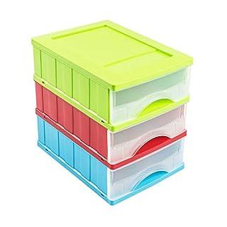 1 Schubladebox A5 Box Kleinteilemagazine 3 Schubladen Ablagebox Büro Box Spielzeug Schreibtisch