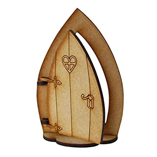 Alchemy Gravur Öffnung Holz Fairy Tür mit Fuß–GNOME Fairy Tür Selbstmontage Craft Kit