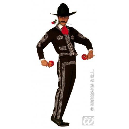 Widmann wdm3206m-Kostüm für Erwachsene Mariachi Herren, Schwarz, XL (Rot Schwarz Und Hut Jester)