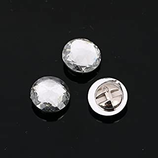 AB 20pcs Sew on BUTTONS Diamante Clear Acrylic Faceted Sparkle Crystal Gem Craft (AB9 - Gem - 11mm)