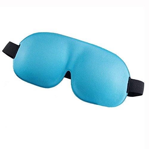 Jueven Sleeping Masks con Soft Memory Foam para Night Men y Women Eye Mask con Diseño Blackout, Cómodos Auriculares para Vuelo de Viaje (Color : Blue)
