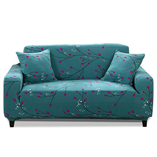 HOTNIU 1 Stück Stretch Sofa Couch Bezüge - Spandex Printed Loveseat Couch Schonbezug - Sessel Sesselbezug/Protector One Free Kissenbezug (2 Sitzer 135-170cm, Gemustert #19)