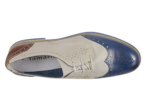 Tamaris 1-1-23207-20 225, Baskets Pour Femme Bleu-Beige